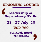 Leadership and Supervisory Skills Course